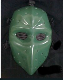 Green Airsoft Hockey mask
