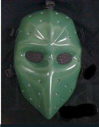 Green Airsoft Hockey mask